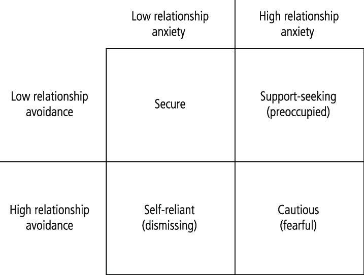 Attachment secure avoidant Avoidant vs